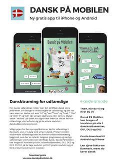Ny dansk app til udlændinge som vil træne dansk på deres mobiltelefon. Gratis til iPhone og Android.
