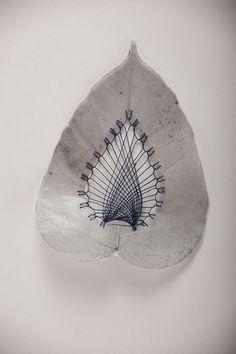 esqueletos de hojas diseño arte - Buscar con Google