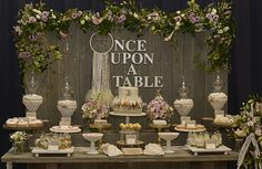 Wedding Dessert Table #wedding #desserttable Loooooove sign, don't like that it's so symmetrical and feels like there's loads of space