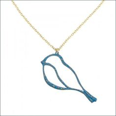 "Blue Bird Necklace in Enameled Brass and 18K Gold Plated Brass Chain with Swarovski Crystal Accents, Adjustable from 24"" to 27"" Length, #7347 Taos Trading Necklaces. $59.00. The artisans that produce this jewelry are committed to improving life for children in need. A portion of sales from all jewelry they produce is used to provide immediate and tangible aid to impoverished children around the world. One person can make a difference.. Handcrafted in the USA. See th..."