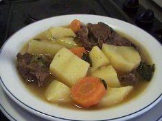 Σούπα με μοσχαρι βραστό, πατάτες και καρότα