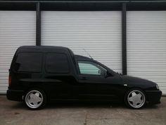 Black VW caddy mk2 on borbet A wheels