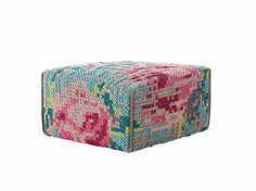 Pouf rembourré en laine FLOWERS   Pouf - GAN By Gandia Blasco