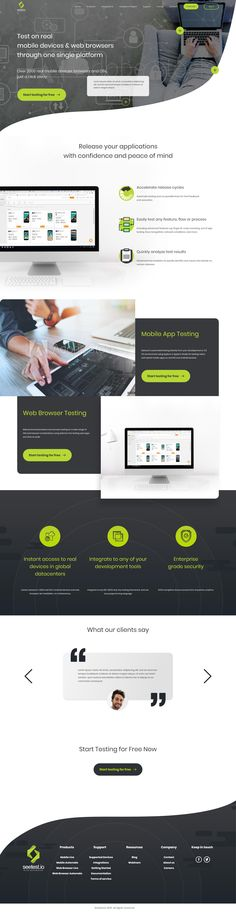 Seetest #homepage  Concept #design   Need a website, or have project in mind? We'll love to help, give us a shout and let's bring your dreams to life.  #websitedesign #ui #uxdesign #uiuxdesign #business
