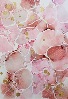 Blush and pink flower design by JulieMarieDesign. Alcohol Ink Crafts, Alcohol Ink Painting, Alcohol Ink Art, Flowers Wallpaper, Abstract Watercolor, Watercolour, Flower Aesthetic, Photo Wall Collage, Flower Wall
