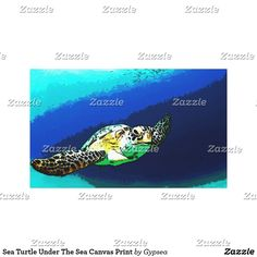 Sea Turtle Under The Sea Canvas Print