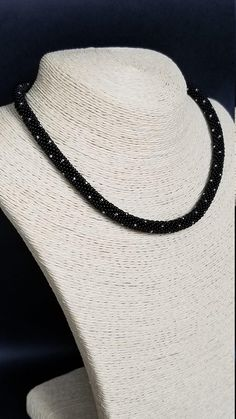 Black Necklace - Collar - Seed bead Necklace - Bead crochet Rope - Beaded Dots Necklace - Statement Rope - Women Jewelry - Rope Necklace Seed Bead Necklace, Rope Necklace, Black Necklace, Collar Necklace, Seed Beads, Crochet Necklace, Beaded Necklace, Bead Crochet Rope, Women Jewelry