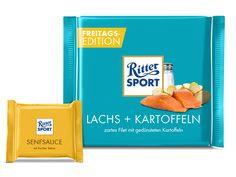 RITTER SPORT Fake Schokolade Sorte: Lachs und Kartoffeln