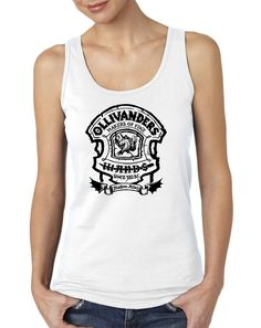 Ollivander's Wands Shop Ladies Mens Tank Top,Nerd Girl Tees,Harry Potter,Diagon Alley
