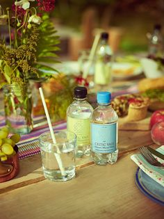 The pleasure of eating outdoors, Celtic Vale Natural Mineral Water