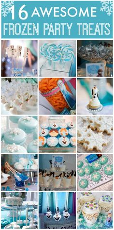 16 Awesome Frozen Party Treat ideas! See more Frozen party ideas at CatchMyParty.com.
