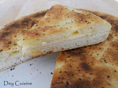 Dey cuisine: Focaccia jambon & comté à la poêle