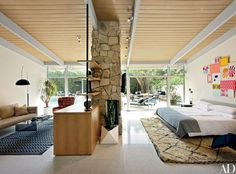 Hotelier Jason Pomeranc's Midcentury Home in Hollywood Photos | Architectural Digest