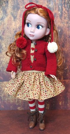 SPiCeD HeaRT...A 4 Pc Handknit Outfit for Tonner Patience dolls by KarmelApples