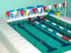 Say Thank You With A Cake To The Swim Coach Who Has Trained With A Group For A Triathlon.