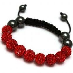 Red Shamballa bracelet now £8.99