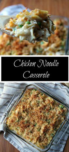 CHICKEN NOODLE CASSEROLE by foodyschmoodyblog.com