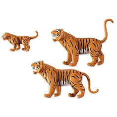 Set includes two adult tigers and one baby. Play with this set on its own or combine it with the Large City Zoo and Zoo Enclosure to create a new animal section full of wild fun. Recommended for ages