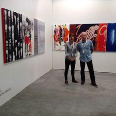 Robert Boynes with Brenda May @artstagesg #bmgartstage #artstage2015 #artstagesingapore #robertboynes
