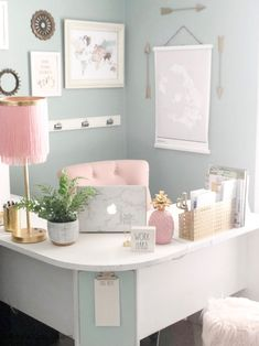 My small home office space sparks JOY, and I love giving this tiny spot a good refresh every few months. continues to impress me… Decor, Room, Room Ideas Bedroom, Interior, Cozy Home Office, Home Decor, Cute Room Decor, Work Office Decor, Girl Bedroom Decor