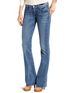 7 For All Mankind Womens Bootcut Jean Jean in Natural Water Blue