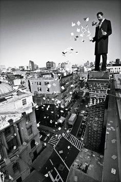 David Blaine by Mario Sorrenti in brooklyn ny
