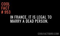 Ewwww ! Who would want to marry a dead person there's no point they can't communicate with u or anthing lol