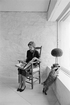 Simplicity, a sunny room, a fluffy dog, and a wonderful book... Bunny Mellon knew how to be glamorous.