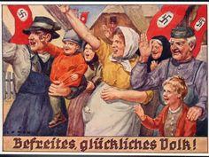 """""""Peuple libéré et heureux"""". """"Freed and happy people""""."""