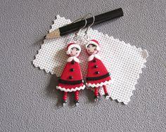 Boucles d'oreilles Mère Noël boucles d'oreilles thème