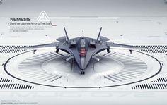 ArtStation - Star Citizen / Aegis Nemesis Spaceship 3D Concept , Marc J. Goliszek