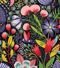 Floral pattern by Helen Dardik Surface Pattern Design, Pattern Art, Art And Illustration, Illustrations, Motifs Textiles, Floral Prints, Art Prints, Arte Floral, Textures Patterns