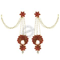 Our ZEHRA KASHMIRI EARRINGS  by Indiatrend. Shop Now at WWW.INDIATRENDSHOP.COM