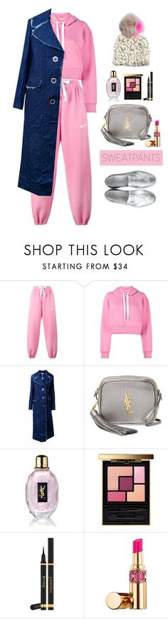 """""""Pinkie"""" by jacque-reid ❤ liked on Polyvore featuring Natasha Zinko, Yves Saint Laurent and sweatpants"""