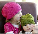 шапочки с сердечками для взрослых и детей. Обсуждение на LiveInternet - Российский Сервис Онлайн-Дневников