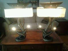Antique Chalkware Lamps 1950's $200 = $300
