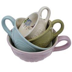 Botanical Ceramic Measuring Cups