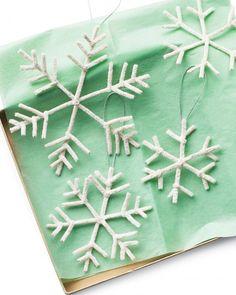 DIY Pipe-Cleaner Snowflakes