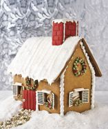 Golden Gingerbread -- Recipe & instructions. Yields: one 4- by 8- by 7-inch gingerbread house or 10 dozen 2-inch cookies.