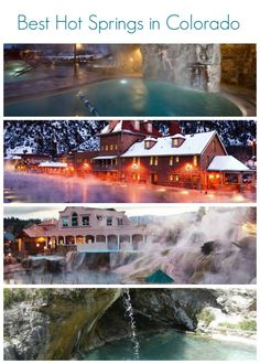 Here is some information about Colorado's top hot spring destinations. Steamboat Springs Colorado, Ouray Colorado, Pagosa Springs, Vacation Destinations, Vacation Trips, Vacation Spots, Vacation Rentals, The Places Youll Go, Places To Go