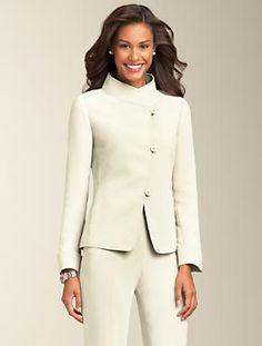 Talbots - Fluid Crepe Stand-Collar Jacket | Suits | Petites