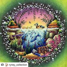 Gorgeous!#Repost @ryney_collection with @repostapp #florestaencantada #selvamagica Might follow my new IG [ryney_collection] to see my latest art works☺️ thanks for supporting #johannabasford #enchantedforest #coloringart #coloringtime #coloringtherapy #coloringforadults #wonderfulcoloring #staedtlerlunawatercolouredpencils #monamibauhaus #softpastel #spendlifedoingwhatyoulove #enjoylife