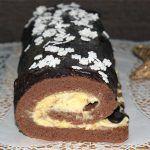 Karácsonyi narancskrémes fatörzs - Fincsi sütemény Hungarian Recipes, Sweet Cakes, Cakes And More, Holiday Parties, Rolls, Food And Drink, Xmas, Cookies, Drinks