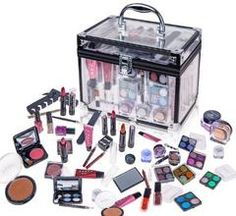 Professional Carry All Makeup Kit EyeshadowPedicure Manicure Cosmetic Case
