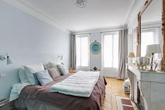 Light & bright spacious 2 BD in heart of Marais - Apartments for Rent in Paris, France Paris Apartment Rentals, Paris Apartments, Rental Apartments, Bed, Room, Furniture, Home Decor, Bedroom, Decoration Home