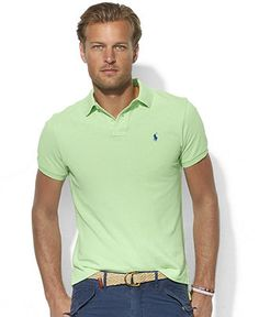 Polo Ralph Lauren Shirt, Classic-Fit Mesh Pony Polo Shirt - Polos - Men - Macys