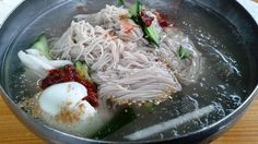 Buckwheat noodle (so-called Makguksu in Korean)