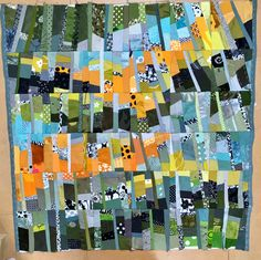 Ursula Kern Strings of Pearls Scrap Fabric, Fabric Art, Fabric Scraps, Quilt Binding, Quilt Stitching, Ursula, Quilting Board, String Quilts, Textiles