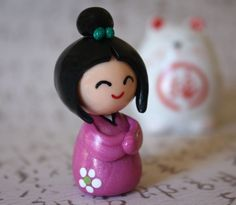 Japanese kokeshi doll figurine by Chikipita