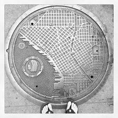 Seattle map, manhole cover. Whatever - @weathered_boots | Instagram